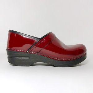 Dansko Professional Red Gloss Clogs Mules